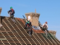 Man working on the new roof